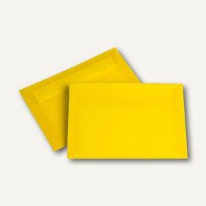 Briefhüllen C6, haftklebend, 100 g/m², transparent-intensivgelb, 100 Stück