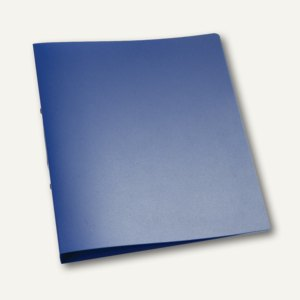 officio Ringbuch DIN A4, 2 Ringe - Ringdurchmesser: 25 mm, blau-transparent