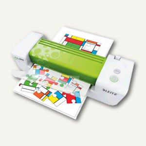 LEITZ Laminiergerät iLAM easy A4, bis DIN A4, weiß/grün, 7477-00-00
