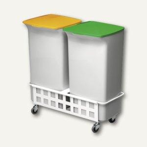 Durable Abfallbehälter-Set DURABIN SQUARE 40 mit Fahrwagen, 1809816050