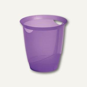Durable Papierkorb TREND, 16 Liter, transluzent-purple, 1701710992