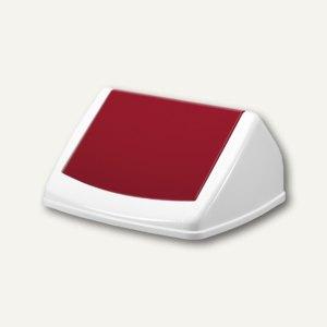 Durable Deckel DURABIN FLIP LID SQUARE 40, weiß/rot, 1801574018