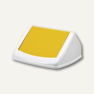 Durable Deckel DURABIN FLIP LID SQUARE 40, weiß/gelb, 1801574013