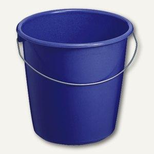 Eimer mit Stahlbügel, Fassungsvermögen 10 Liter, blau, 84194
