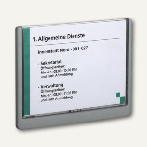 Durable Türschild CLICK SIGN 210x148.5mm (A5), Kunststoff, graphit, 4866-37