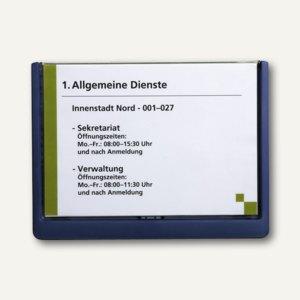 Durable Türschild CLICK SIGN 210x148.5mm (A5), Kunststoff, dunkelblau, 4866-07