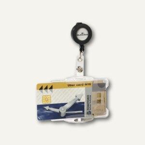 Durable Ausweishalter mit Jojo, 87 x 54 mm, offen, doppelt, 10 Stück, 8219-19