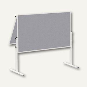 Hebel Moderationstafel solid klappbar, 120 x 150 cm, Filz, grau, 6366682
