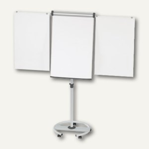 Hebel Flipchart mobil solid plus, Rundfuß, 66x97 cm, 2 Arme, 6372882