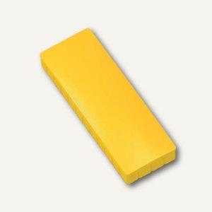 Hebel Solidmagnet, 50 x 19 mm, Haftkraft: 1.0 kg, gelb, 10 Stück, 6165013