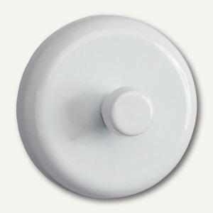 Hebel Kraftmagnet mit Griffhaken, Ø 32 mm, Haftkraft: 6 kg, weiß, 2St., 6155202