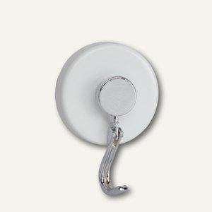 Hebel Hakenmagnet Karussell, Ø 35 mm, 5 kg Haftkraft, weiß, 2 Stück, 6155702