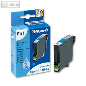 Pelikan E51 InkJet-Patrone für Epson T061240, cyan, 352729