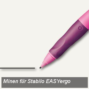 STABILO Bleistiftminen für EASYergo 1.4, Härtegrad: HB, 6 Stück, 7880/6-HB