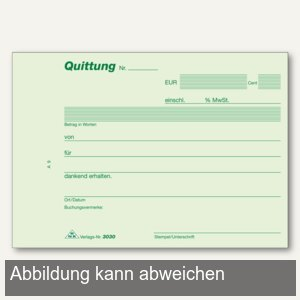 officio Quittungen, DIN A6 quer, Block mit 50 Blatt, 300