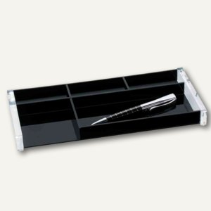 """Stifteschale """"acryl exklusiv"""", 5 Fächer, glasklar/schwarz, Acryl, 601601, 60 160"""