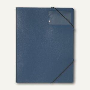 Durable Eckspanner A4 aus Hartfolie, bis 150 Blatt, blau, 10 Stück, 232007