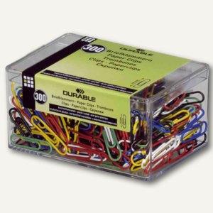Durable Briefklammern, 26mm, farbig sortiert, 300St, kunststoffummantelt, 125500