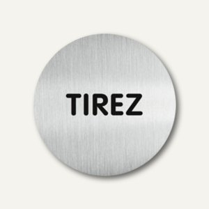 "Durable Aluminium-Piktogramm ""TIREZ"", Ø 65 mm, 490168"