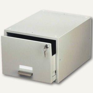 Durable Karteikasten, DIN A5, grau, abschließbar, 3353-10