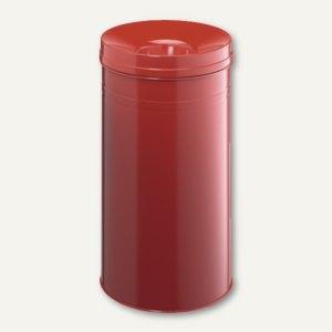 Durable Papierkorb Safe+, 60 Liter, mit Flammenlöschkopf, rot, 332703
