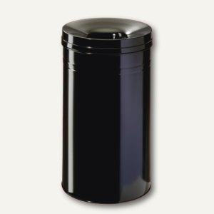 Durable Papierkorb Safe+, 60 Liter, mit Flammenlöschkopf, schwarz, 332701
