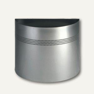 Durable Papierkorb, 20 Liter, halbrund, silber, perforiert, 331623
