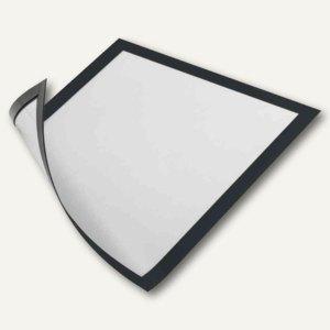 Durable Magnet-Sichtfenster, DIN A4, Hartfolie, schwarz, 5 Stück, 486901