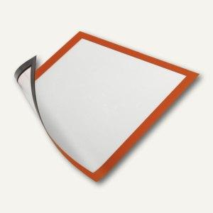 Durable Magnet-Sichtfenster, DIN A4, Hartfolie, orange, 5 Stück, 486909