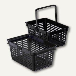 Durable Shopping Basket 27 Liter, PP, B 496 x H 228 x T 365 mm, schwarz, 6 St.,