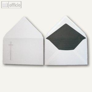 Trauerumschläge, 120 x 191 mm, Nassklebung, weiß, halbmatt, 100 Stück, 2501684