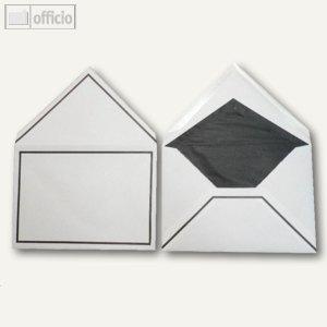 Trauerumschläge, 162 x 229 mm, Nassklebung, weiß, matt, 100 Stück, 2501687