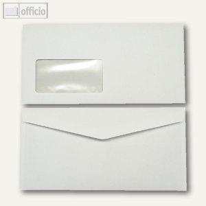 Kuvertierhüllen, 110 x 220 mm, Nassklebung, weiß, offset, 1000 St., 250254