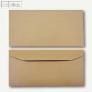 Kuvertierhüllen, 110 x 220 mm, Nassklebung, braun, natron, 1000 St., 2507048