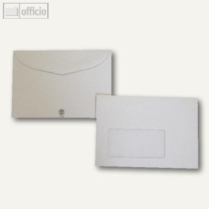 Kuvertierhüllen, 114 x 162 mm, Nassklebung, grau, recycling, 1000 Stück, 250306