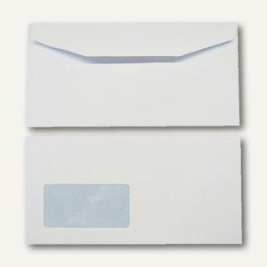 Kuvertierhüllen - C6/5, 114x229mm, 110 g/m², Fenster, Offset, weiß, 1.000St., 25