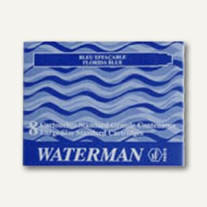 Waterman Tintenpatrone Standard floridablau, 8 Stück, S0110860