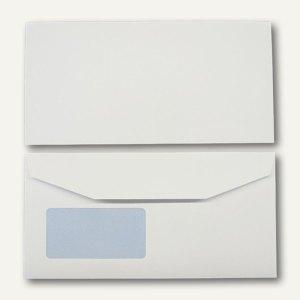 Kuvertierhüllen - C6/5, 114x229mm, 110g/m², Fenster, Offset, weiß, 500St., 25070