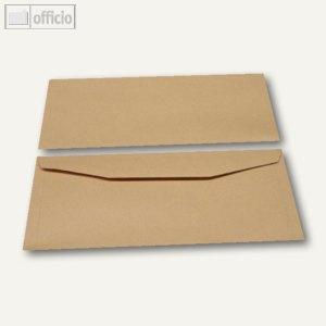 Kuvertierhüllen, 114 x 235 mm, Nassklebung, braun, natron, 1000 St., 2504401