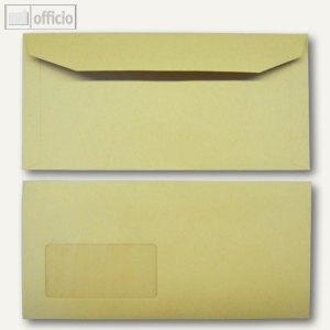 Kuvertierhüllen, 114 x 235 mm, Nassklebung, braun, natron, 1000 St., 2507085
