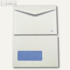 Kuvertierhüllen, 115 x 168 mm, Nassklebung, weiß, offset, 1000 St., 2501890