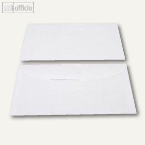 Kuvertierhüllen, 121 x 235 mm, Nassklebung, weiß, offset, 1000 St., 2504416
