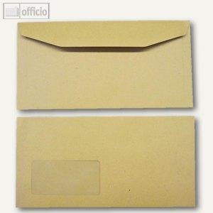 Kuvertierhüllen, 121 x 235 mm, Nassklebung, braun, natron, 1000 St., 2507088