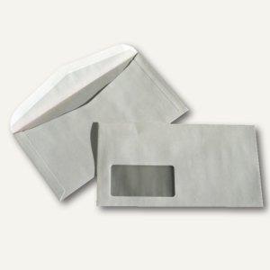 Kuvertierhüllen - 125 x 235 mm, 80g/m², Fenster, Offset, weiß, 1.000St., 25029