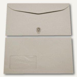 Kuvertierhüllen - 125 x 235 mm, 75g/m², Fenster, Recycling, grau, 1.000St.