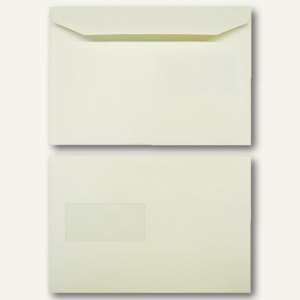 Kuvertierhüllen DIN C5 162 x 229 mm 120g/qm Fenster offset creme 500 St., 250712