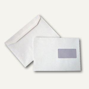 Kuvertierhüllen DIN C5, 162 x 229 mm, 80g/qm, Fenster, offset, weiß, 500 St., 25
