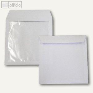officio Kuvertierhüllen 220 x 220 mm, weiß, offset, Fenster, 250 Stück, 2501076