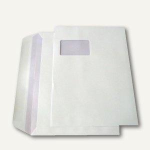 Kuvertierhüllen - C4, 229x324mm, 90g/m², Fenster, Offset, weiß, 250St., 250341