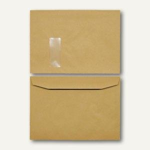 Kuvertierhüllen - C4, 229x324mm, 100g/m², Fenster, Natron, braun, 250St., 250720